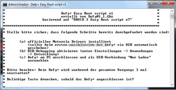 Como fazer Root no Defy  2