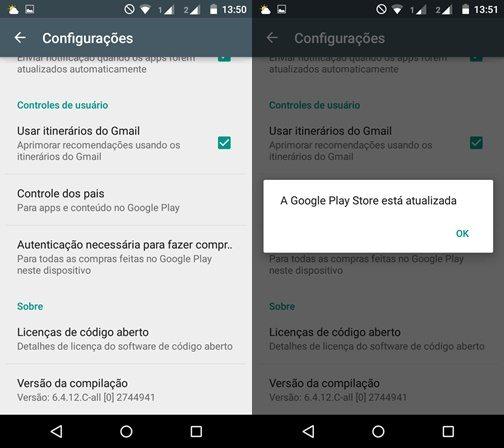 Como atualizar a Google Play Store 2