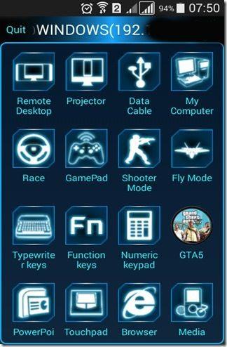 Funções do app
