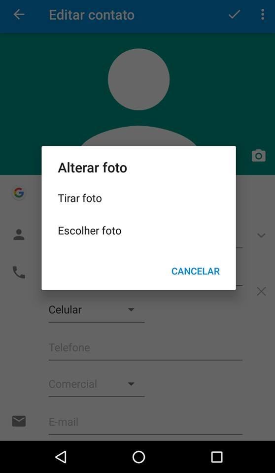 Como adicionar uma foto de contato no Android