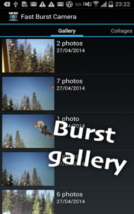 Fast Burst Camera