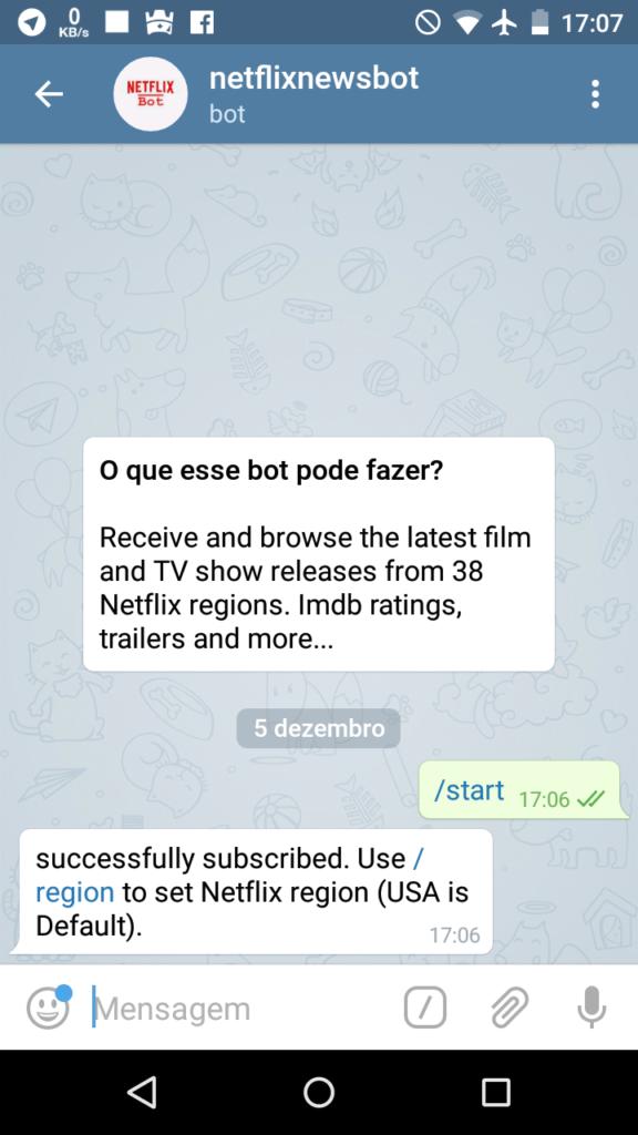 Receba Todos os Lançamentos do Netflix em seu Android pelo Telegram