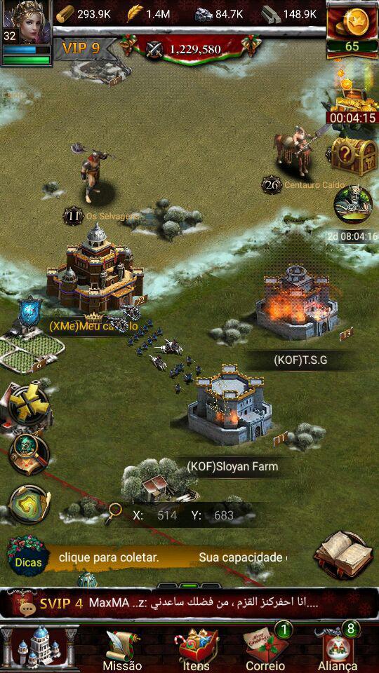 Como criar castelos farm no Clash of Kings