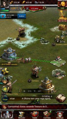 Como criar castelos farm no Clash of Kings 7
