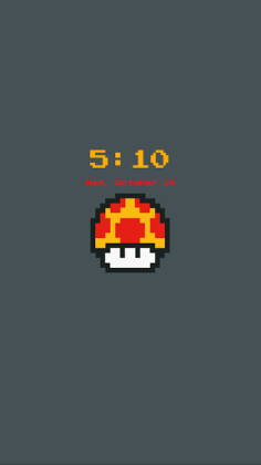 8-Bit Clock Widget