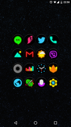 Neon Glow C Icon Pack