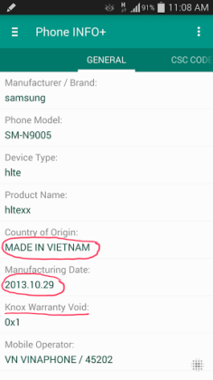 Phone INFO+ Samsung