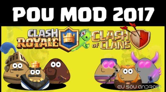 Pou Clash Royale e Clash Of Clans 2017