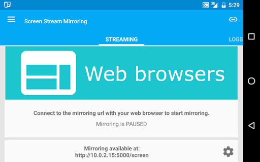 Screen Stream Mirroring