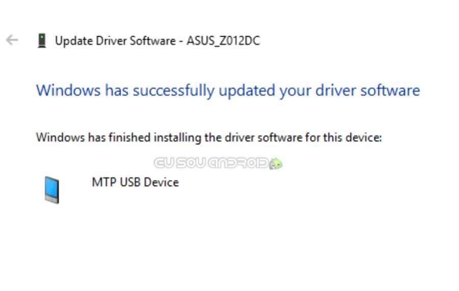 driver mtp usb instalado asus zenfone 3