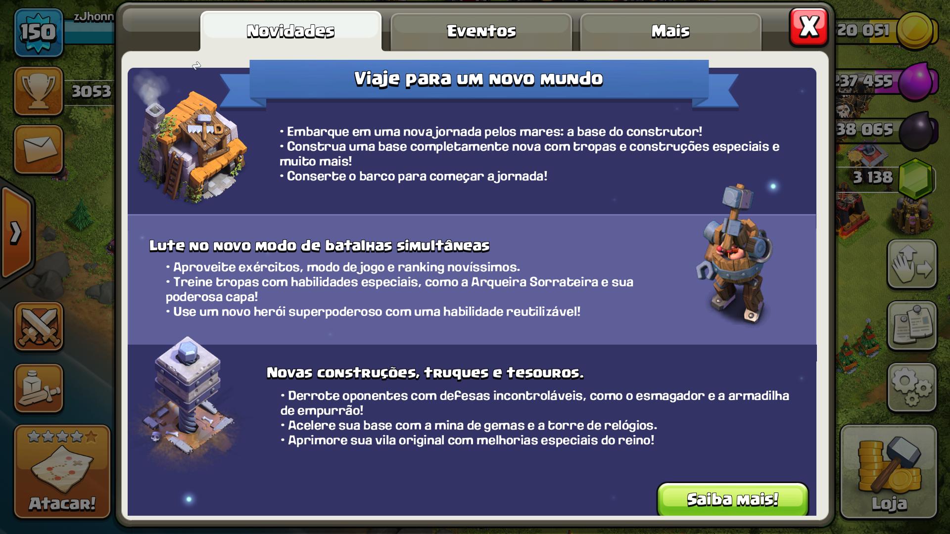 Clash of Clans Traz a Base do Construtor em Nova Atualização.