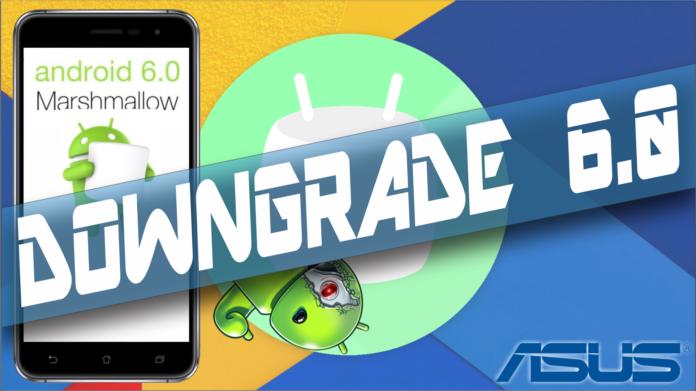 Downgrade Zenfone 3