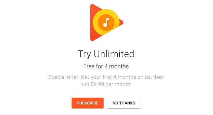 O Google Play Music Agora Oferece um Teste Gratuito de 4 Meses para Novos Usuários