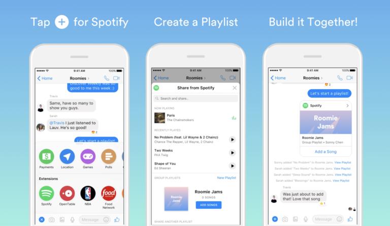 Agora você pode criar listas de reprodução do Spotify com Amigos do Messenger
