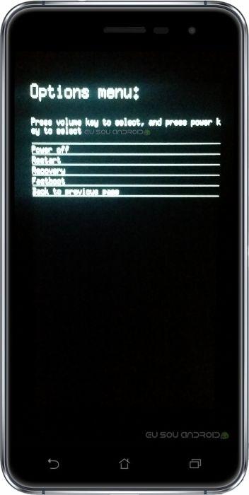 bootloader menus zenfone 3