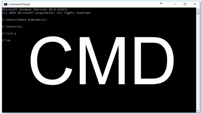 Como navegar em pastas pelo CMD