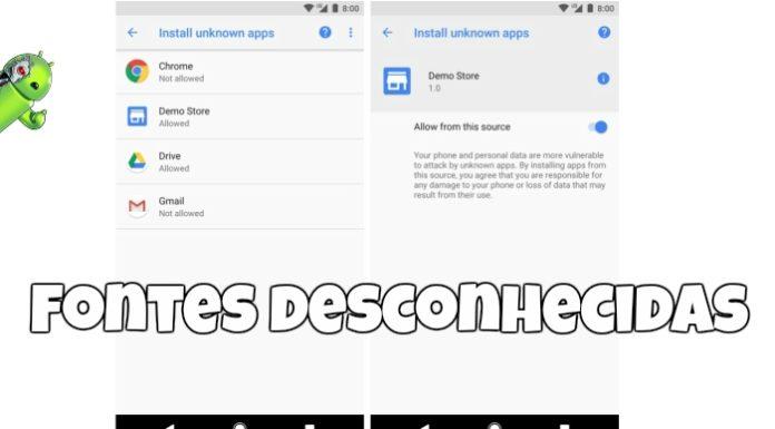 Fontes desconhecidas no Android Oreo