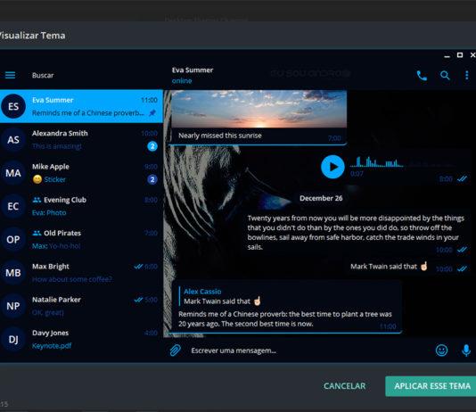 Temas para o Telegram Desktop