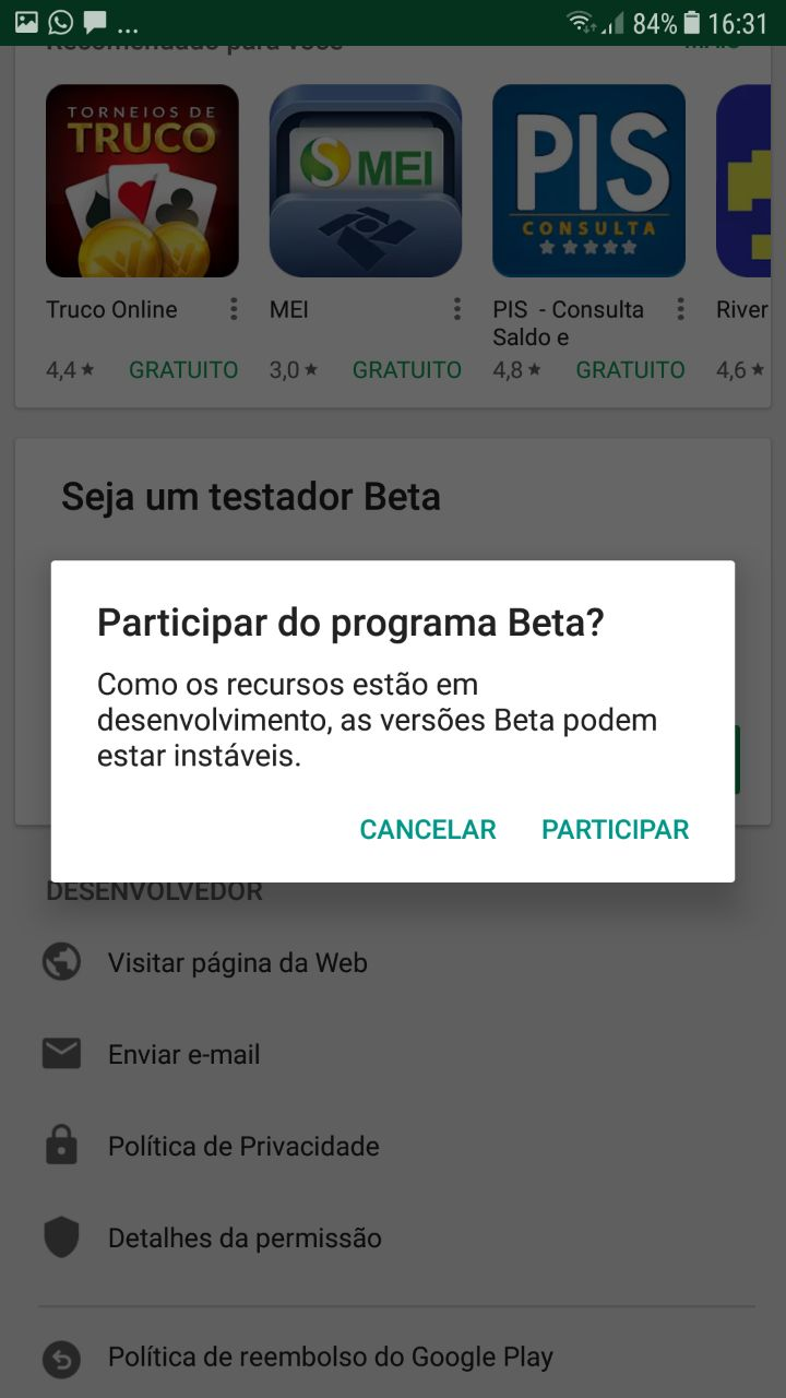 Se Torne um Testador Beta