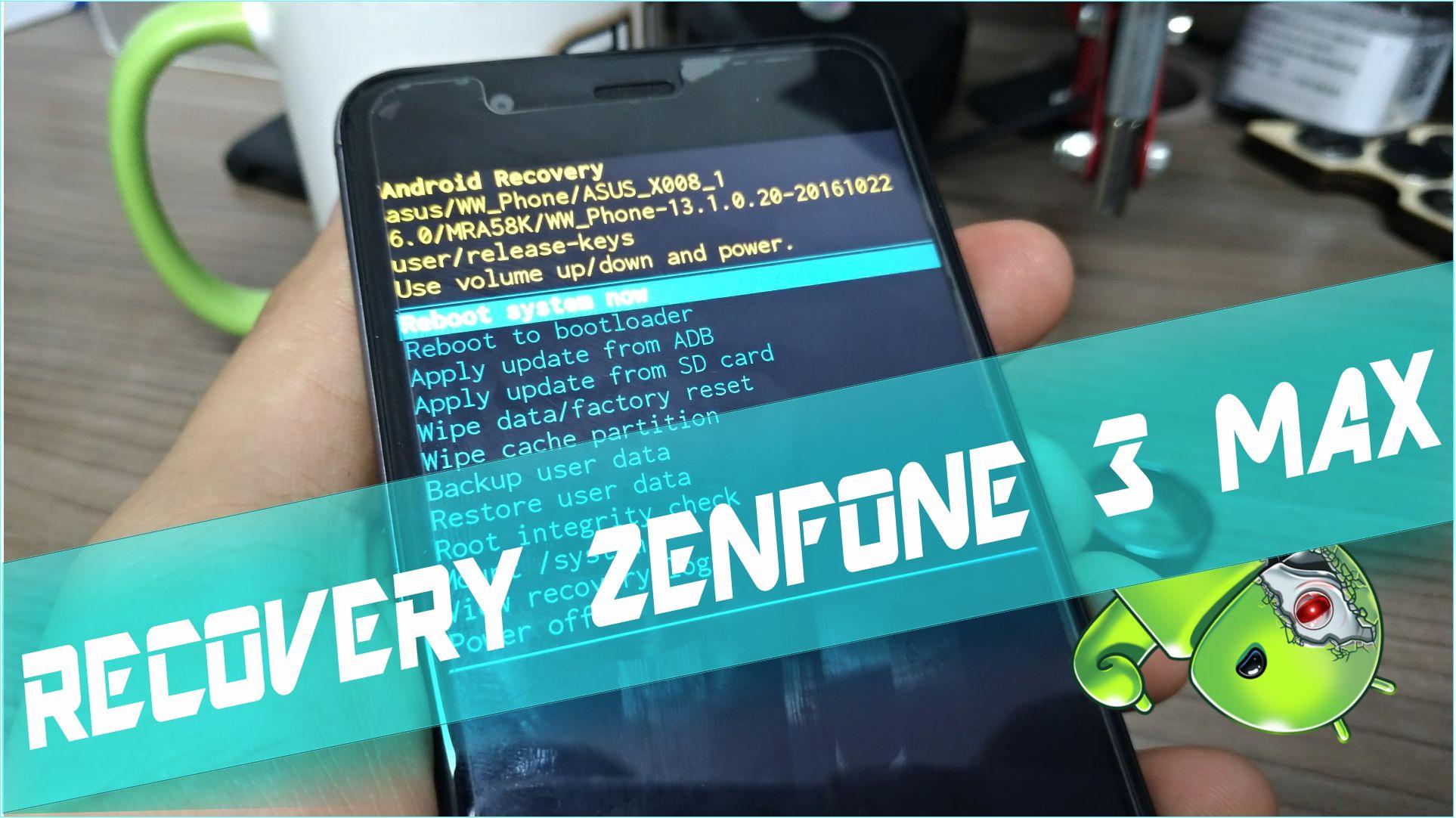 Como acessar o Modo Recovery do Zenfone 3 MAX ZC520TL