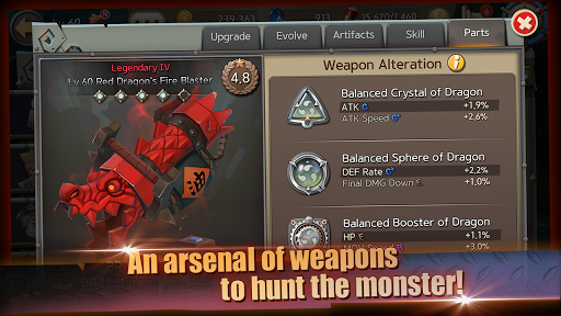 Hunters League The story of weapon masters