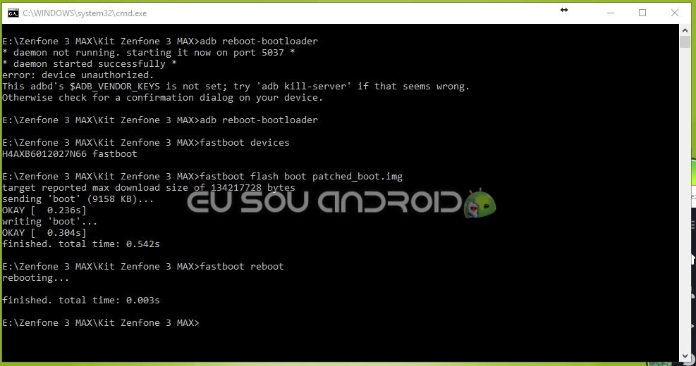 flash boot img zenfone 3 max