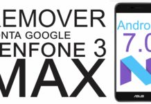 Remover Conta Google do Zenfone 3 MAX Android 7