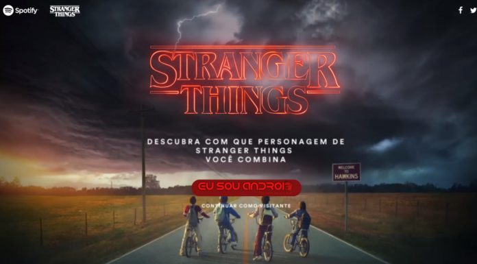 Stranger Things com o Spotify