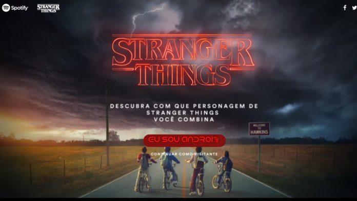 Stranger Things com o Spotify