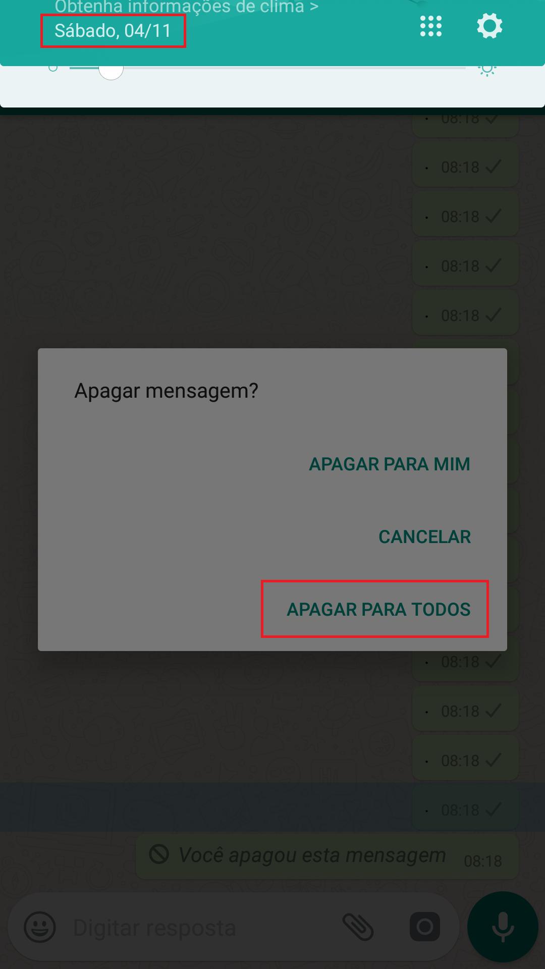WhatsApp Permite Apagar Mensagens Depois de 7 Minutos