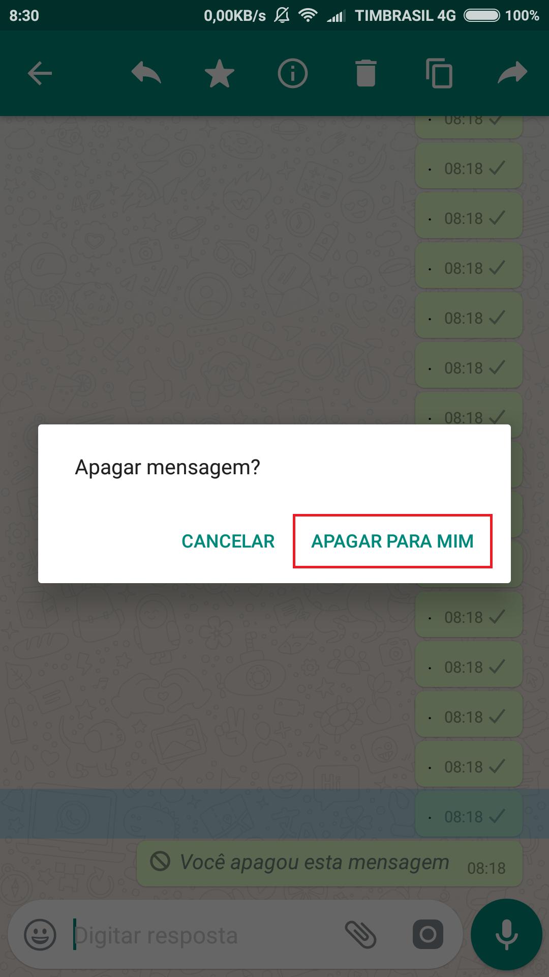 Apague Mensagens Enviadas Depois de 7 Minutos