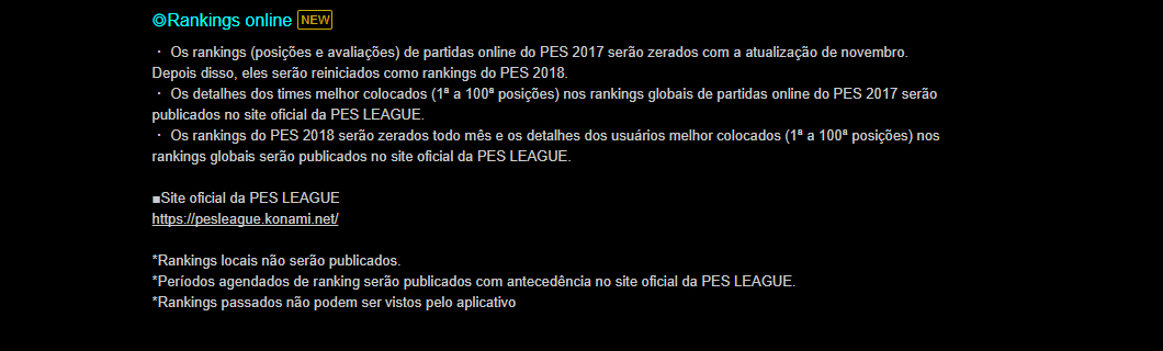 Data do PES 2018 Mobile Confirmada