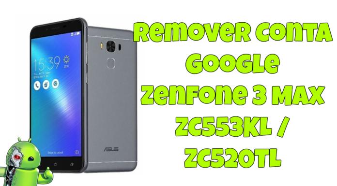Remover Conta Google Zenfone 3 Max