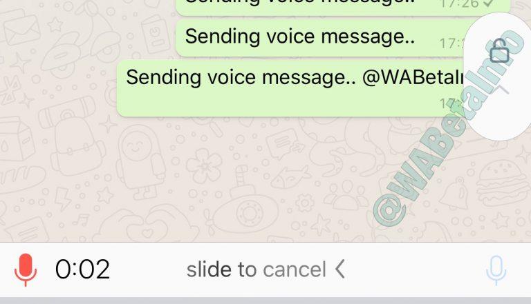 WhatsApp está testando nova forma de enviar mensagens de voz! 2