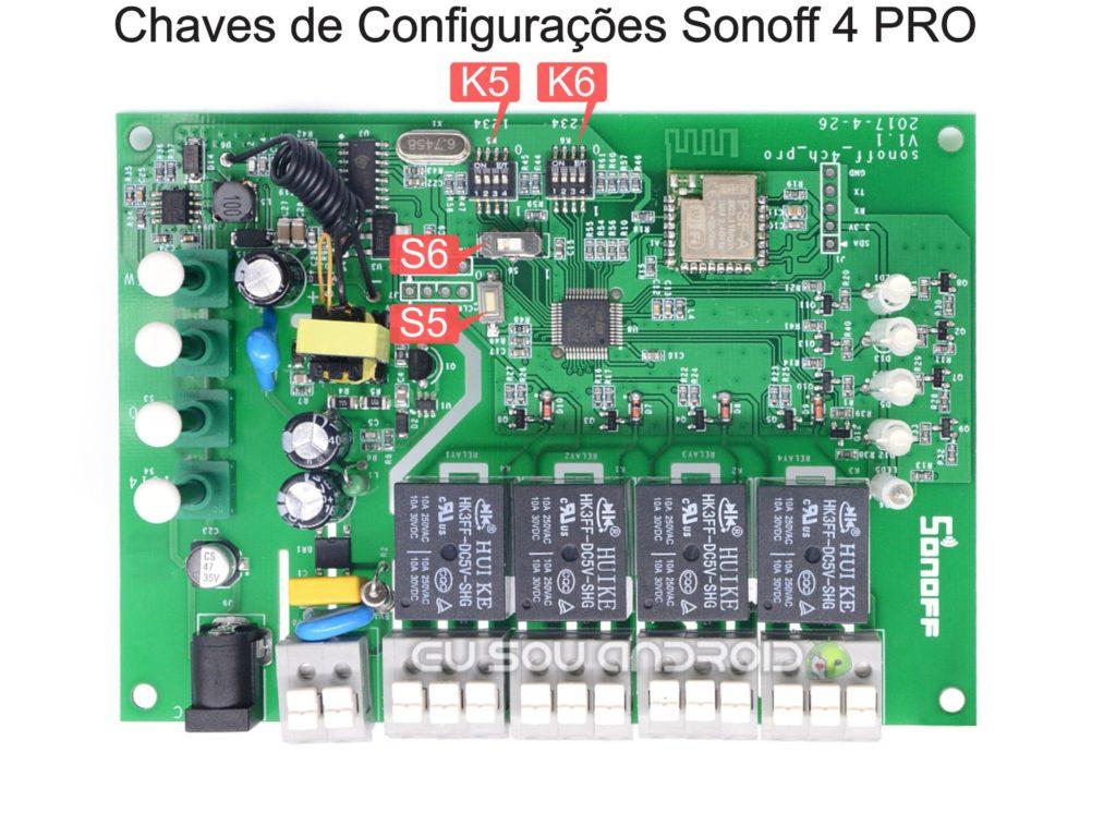 Chaves de Configurações Sonoff 4 PRO
