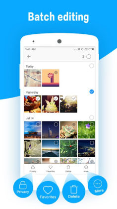 Galeria de fotos HD e editor