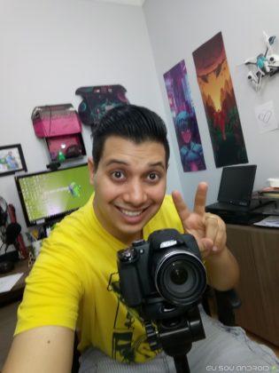 Imagem câmera frontal Alcatel A7 - 1