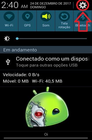 O processo com.android.phone parou