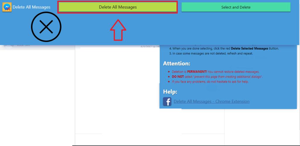 Apagar as Mensagens do Messenger de Uma só Vez