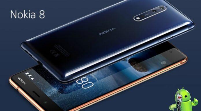 nova atualização do Nokia 8