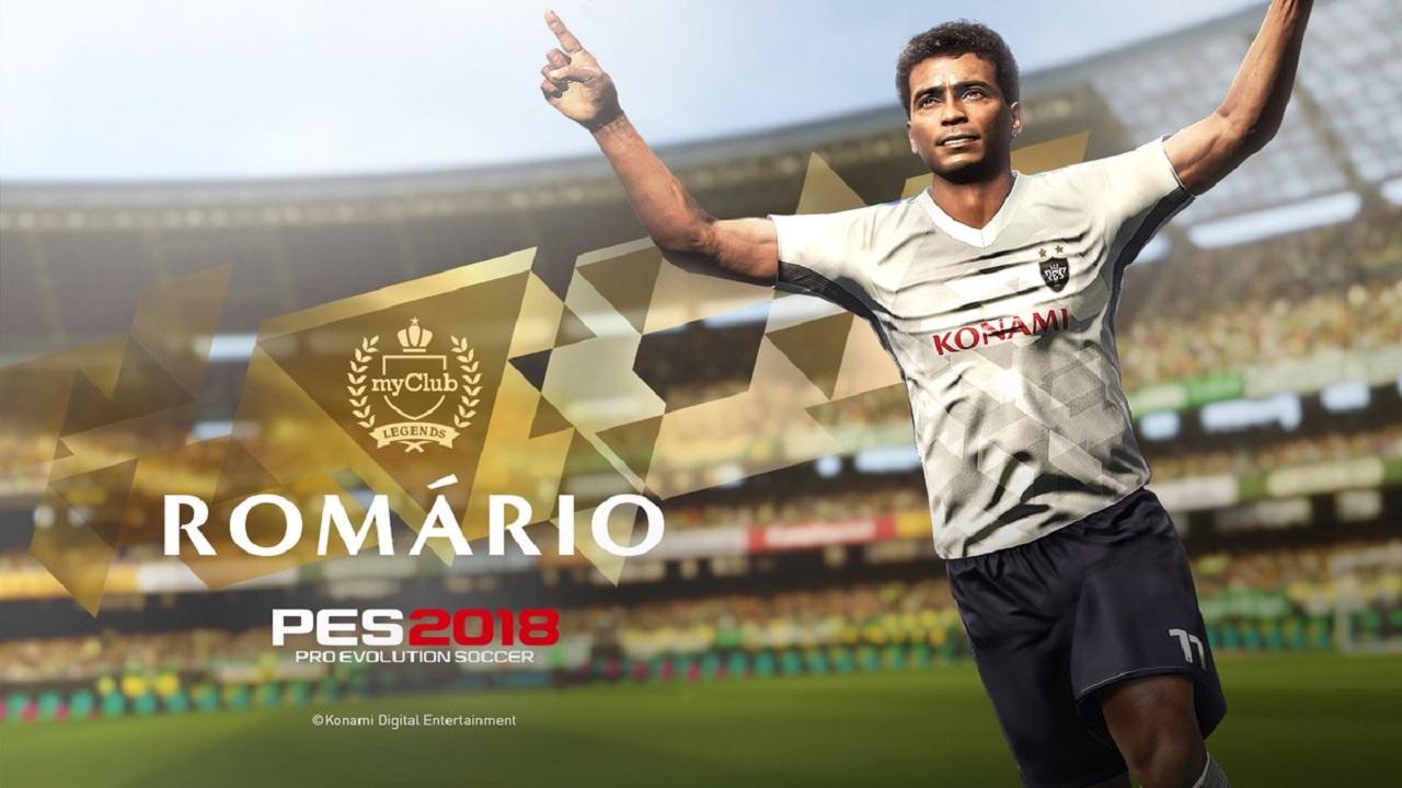Romário Chega no PES 2018 Mobile