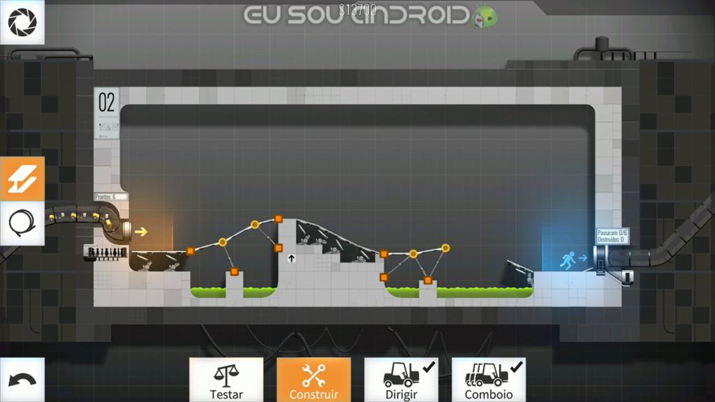 Solução Fases Bridge Constructor Portal Fase 2