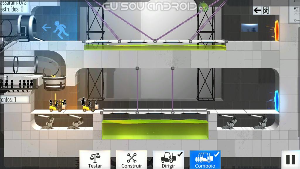 Solução Fases Bridge Constructor Portal Fase 3