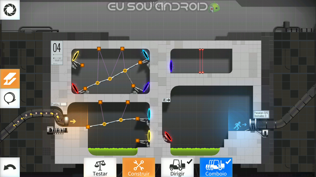 Solução Fases Bridge Constructor Portal Fase 4