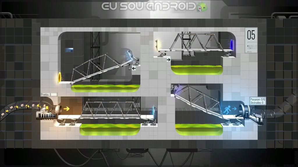Solução Fases Bridge Constructor Portal Fase 5