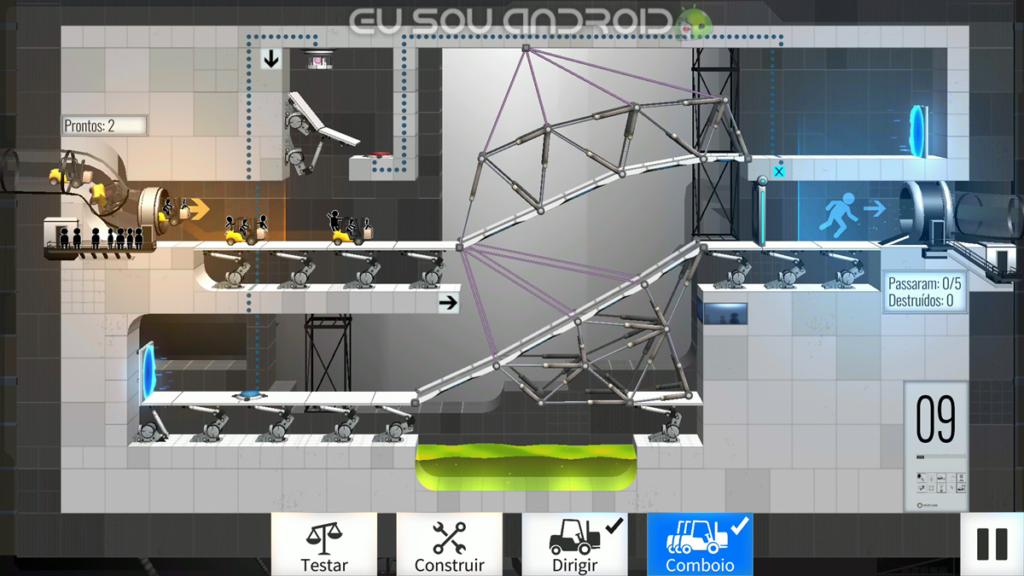 Solução Fases Bridge Constructor Portal Fase 9