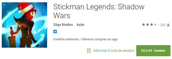 Stickman Legends Shadow Wars GRÁTIS Por Tempo LIMITADO Baixe agora!