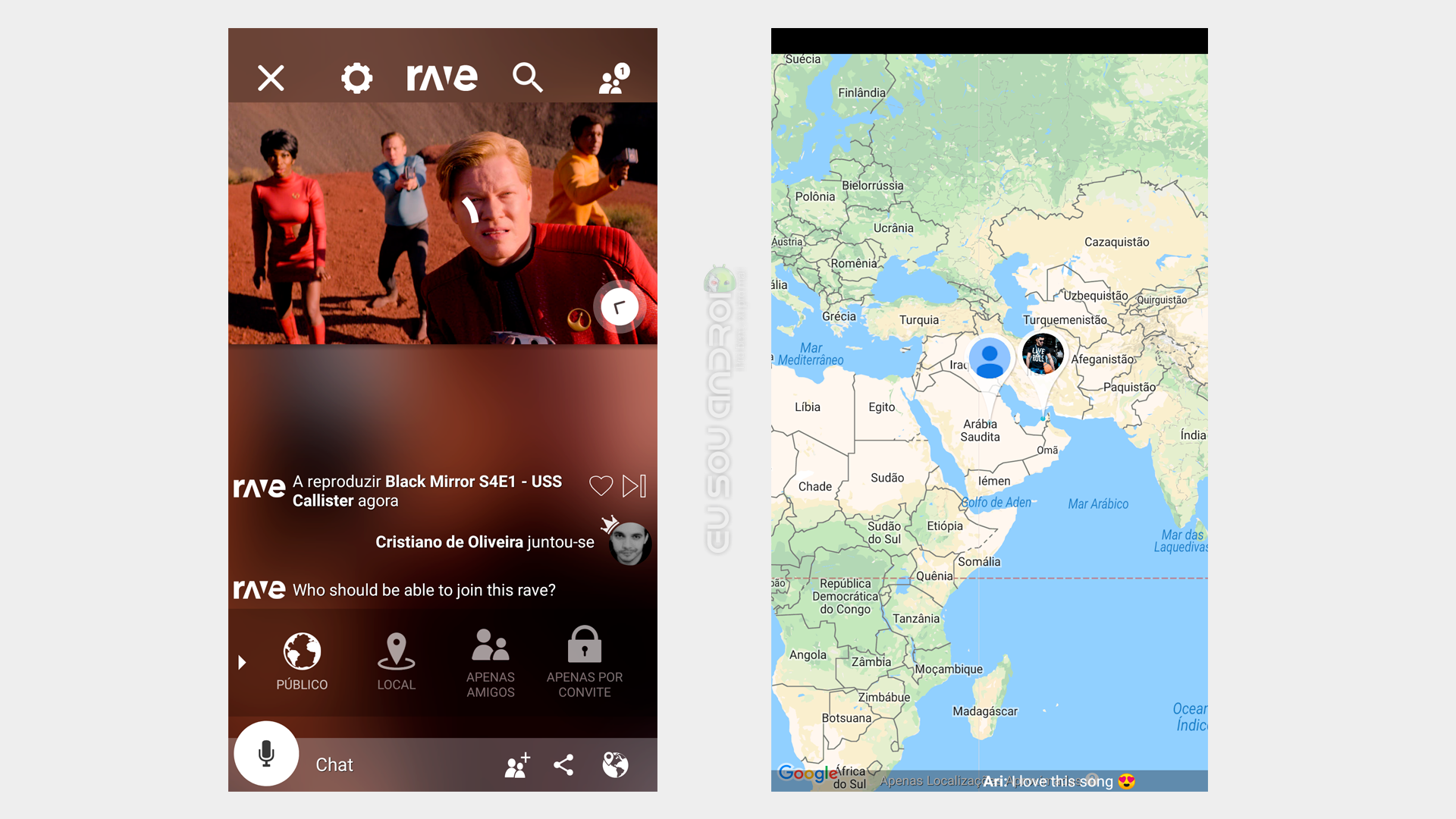 Rave - um app para assistir Youtube e Netflix com amigos indepedente da distância