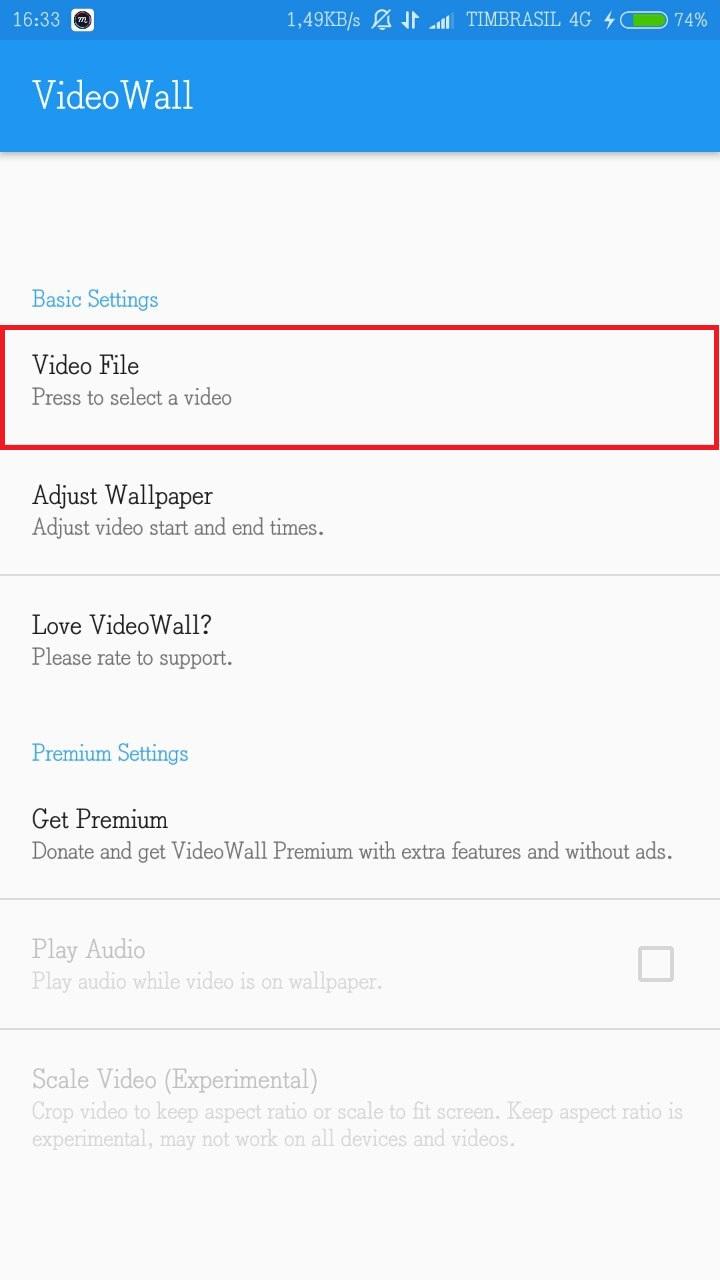 Colocar um Vídeo como Tela de Fundo