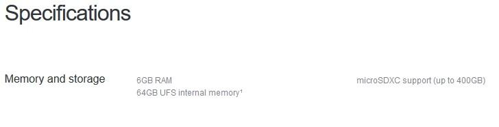 Sony Xperia XZ2 com 6GB de RAM